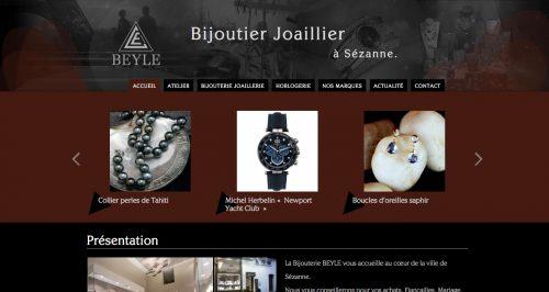 Anthem Création - Création de site Internet à Reims - Bijouterie Beyle