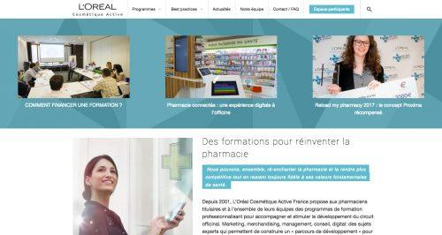 Anthem Création - Création de site Internet à Reims - loreal-cosmetique-active