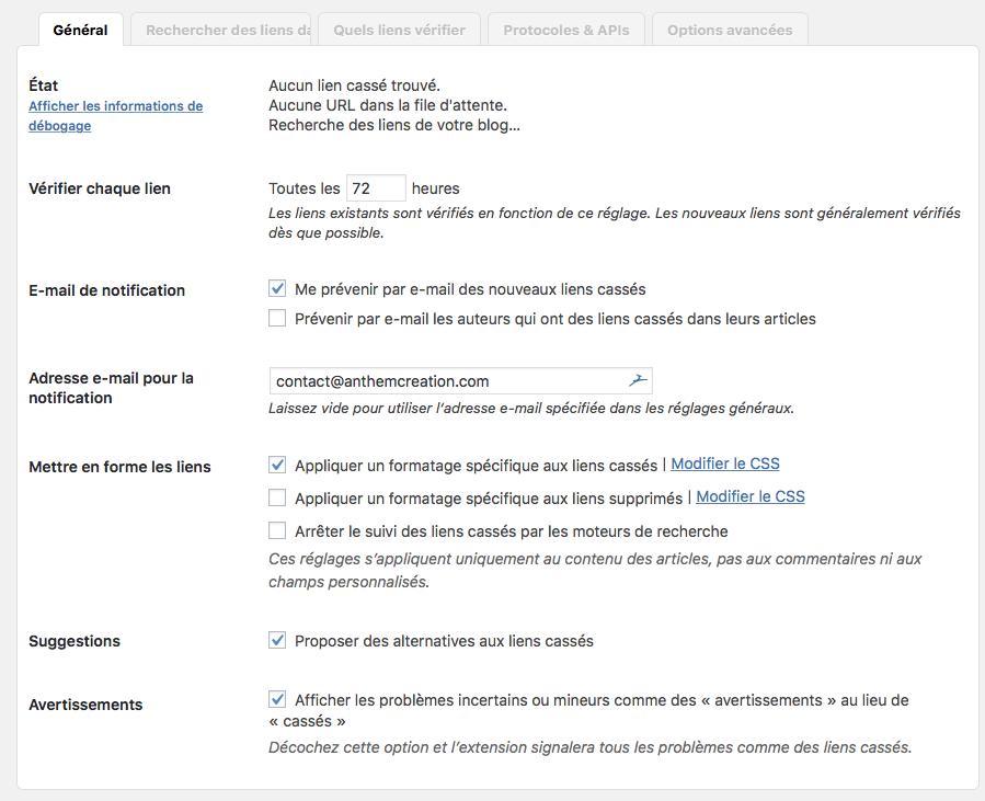 Conserver votre référencement avec le plugin Broken Link Checker : Plugin WordPress pour vérifier les liens brisés