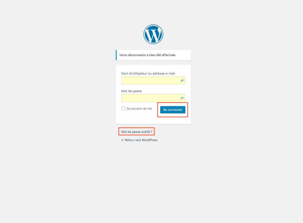 Connexion A WordPress