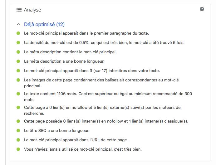 Optimisation Du Référencement : Le Guide Rapide Yoast - Analyse Mots Clé