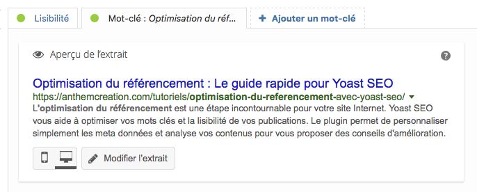 Optimisation Du Référencement : Le Guide Rapide Yoast - Apercu