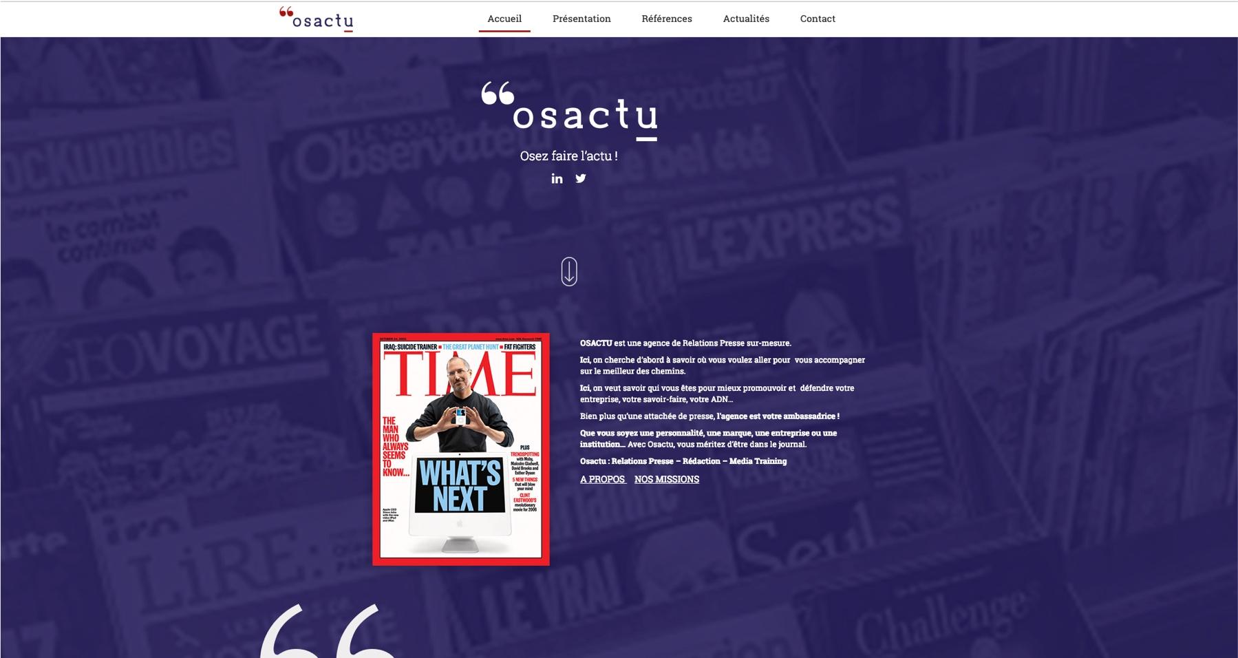 Anthem création création de site internet à reims osactu site internet