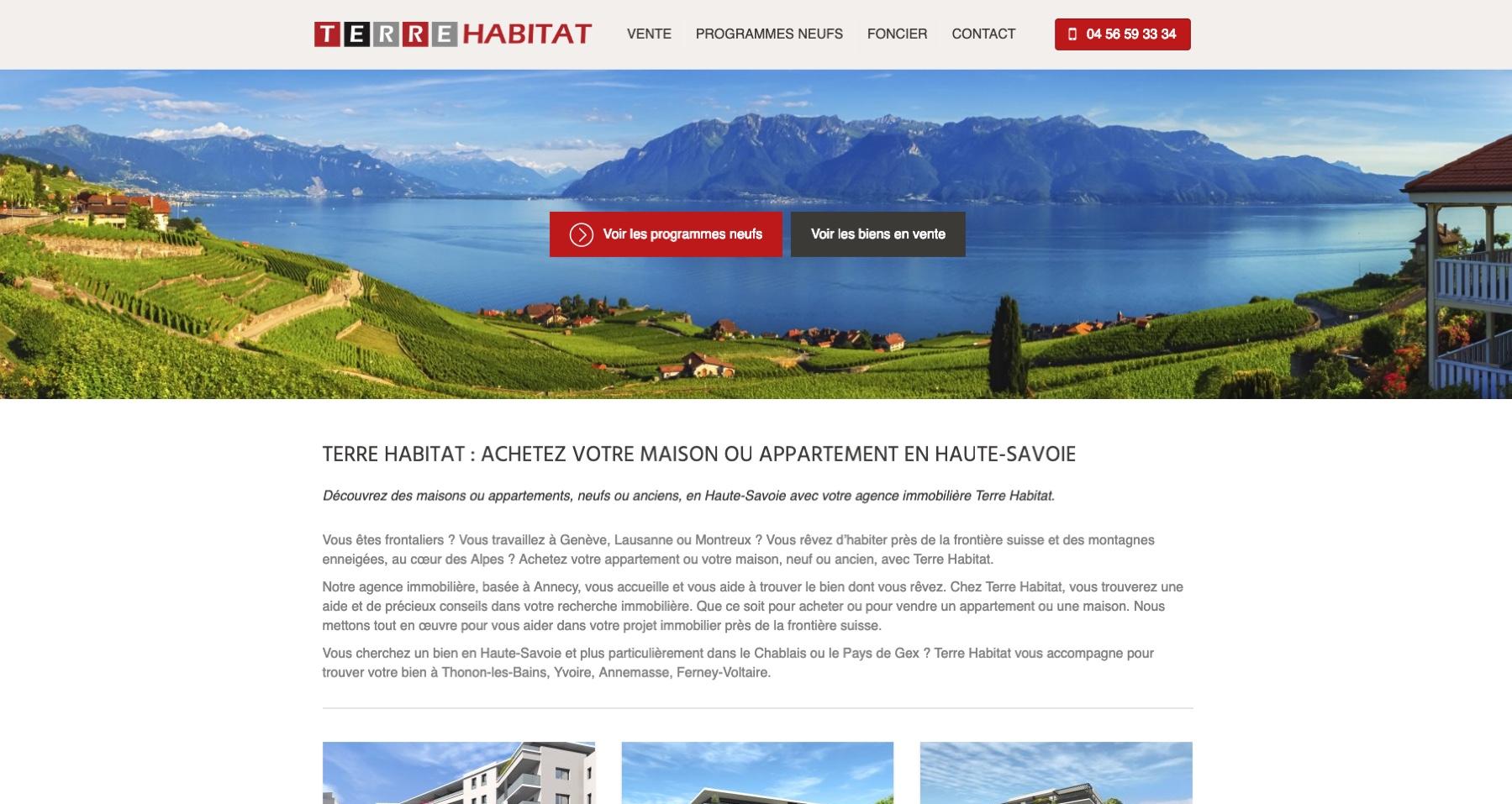 Anthem création création de site internet à reims terrehabitat site internet